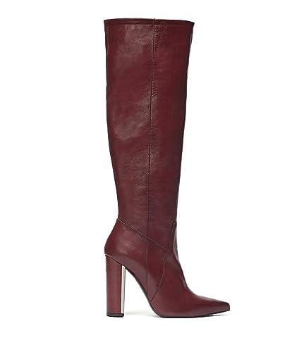 PoiLei »Clara« High-Heel-Stiefel, mit eleganter spitzer Schuhform, rot, EURO-Größen, bordeaux