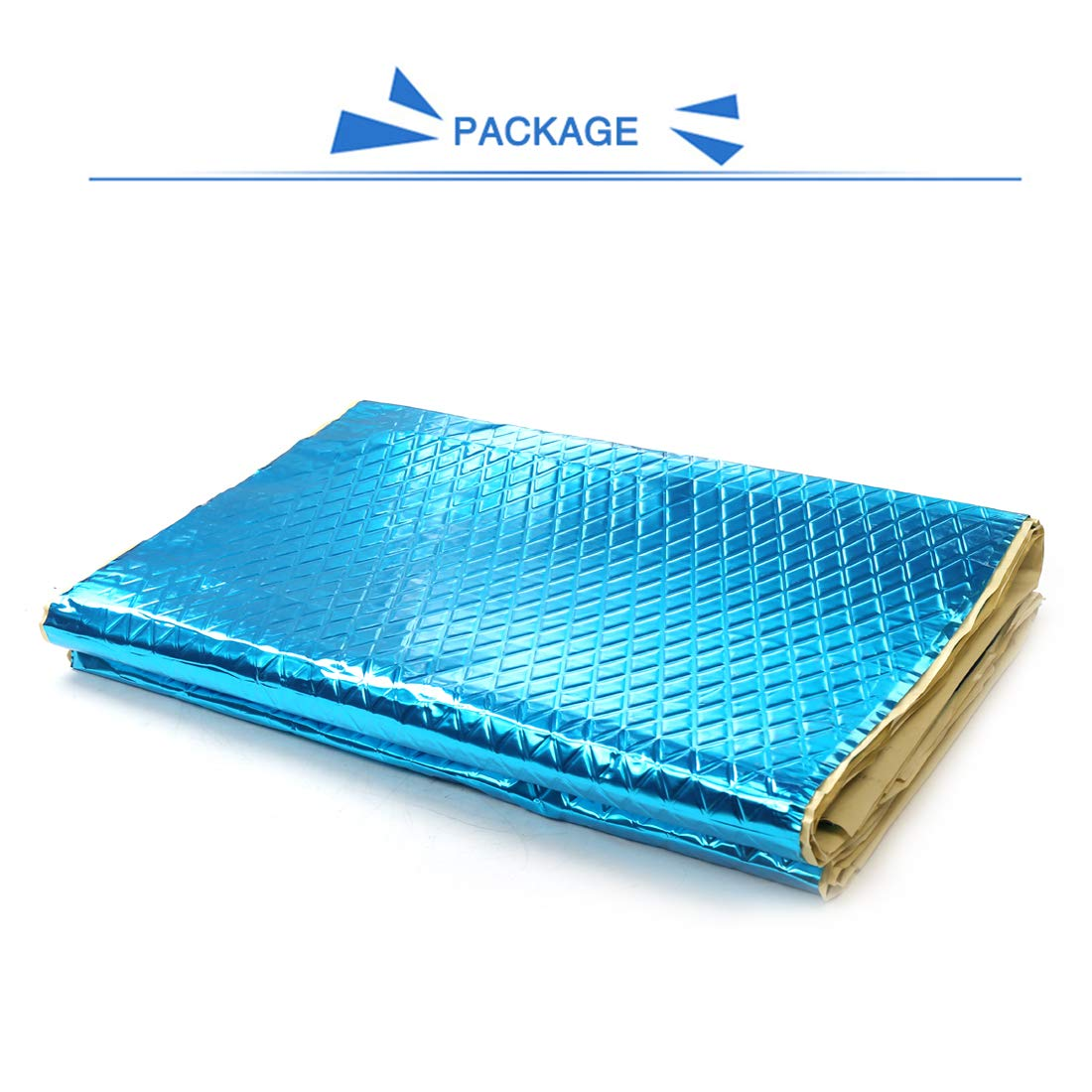 uxcell 5pcs Blue 80mil 20sqft Car Sound Deadener Heat Insulation Deadening Mat Pad