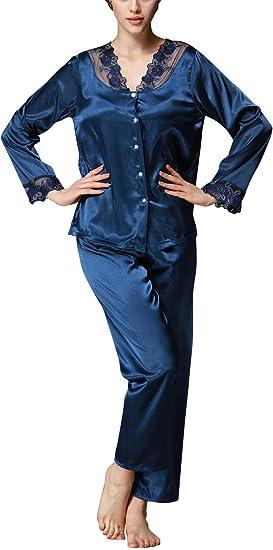 Pyjama Femme Uni Manche Élégant Nuisette