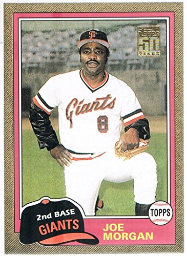 1837 Collection (2001 Topps Traded Gold #T127 Joe Morgan 81 #d 1837/2001)