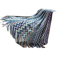 Cotton Tassels Sofa Throw Blankets, Bohemia Style Chair Slipcover Sofa Thread Blanket, Chair/Beach/Bedding/Couch Cover for Home Office Traveling, Size:51 x 63 inches