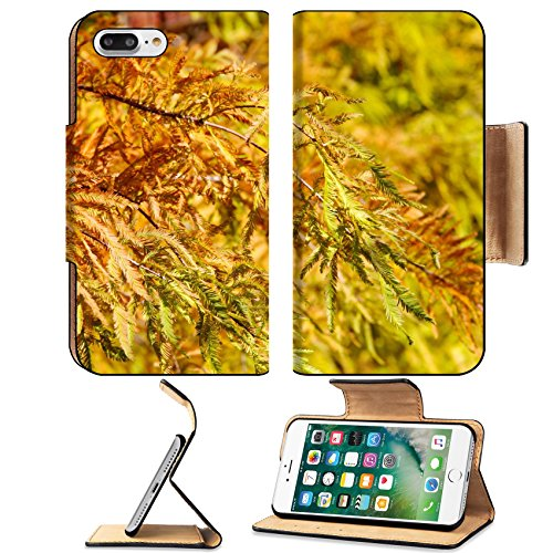 Luxlady Premium Apple Iphone 7 Plus Flip Pu Leather Wallet Case Iphone7 Plus 33784779 Colorful Autumn Bald Cypress Tree Taxodium Distichum