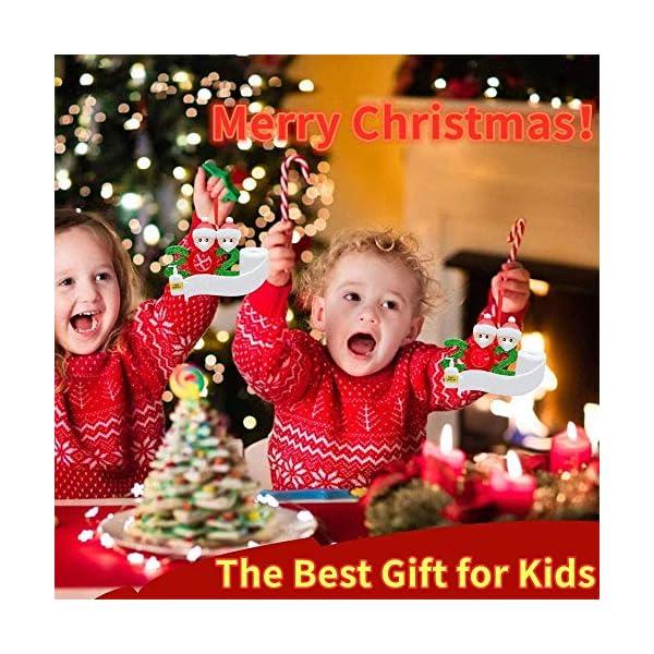 Sopravvissuto Famiglia Ornamento 2020 Quarantena Personalizzato Ornamenti di Natale Decorazioni per L'Albero di Natale Ornamenti Famiglia di Albero di Natale Ornamento Home Decor Regali di Natale 5 spesavip