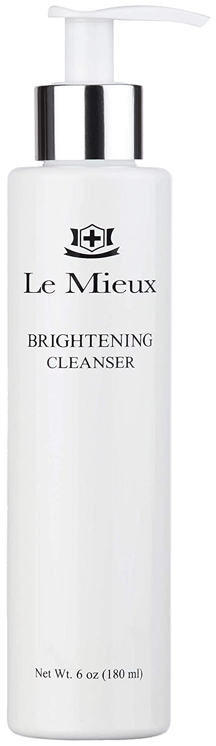 Le Mieux Brightening Cleanser - Face Wash with Vitamin C, Mandelic Acid & Antioxidant Glutathione for Soft Glowing Skin, No Parabens or Sulfates (6 oz / 180 ml)