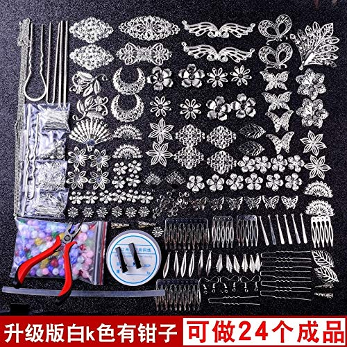DIY Handmade Hair pins Material Package Homemade Chinese Classical Antiquity Cosplay Costume Step Shake Hair Accessories Hair pin (Antique White k Color Upgrade Package Material fo from MHAIH
