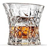 Empire Whiskey Glasses, Scotch Glasses By Ashcroft - Set Of 2. Unique, Elegant, Dishwasher Safe, Glass Liquor or Bourbon Tumblers. Ultra-Clarity Glassware.