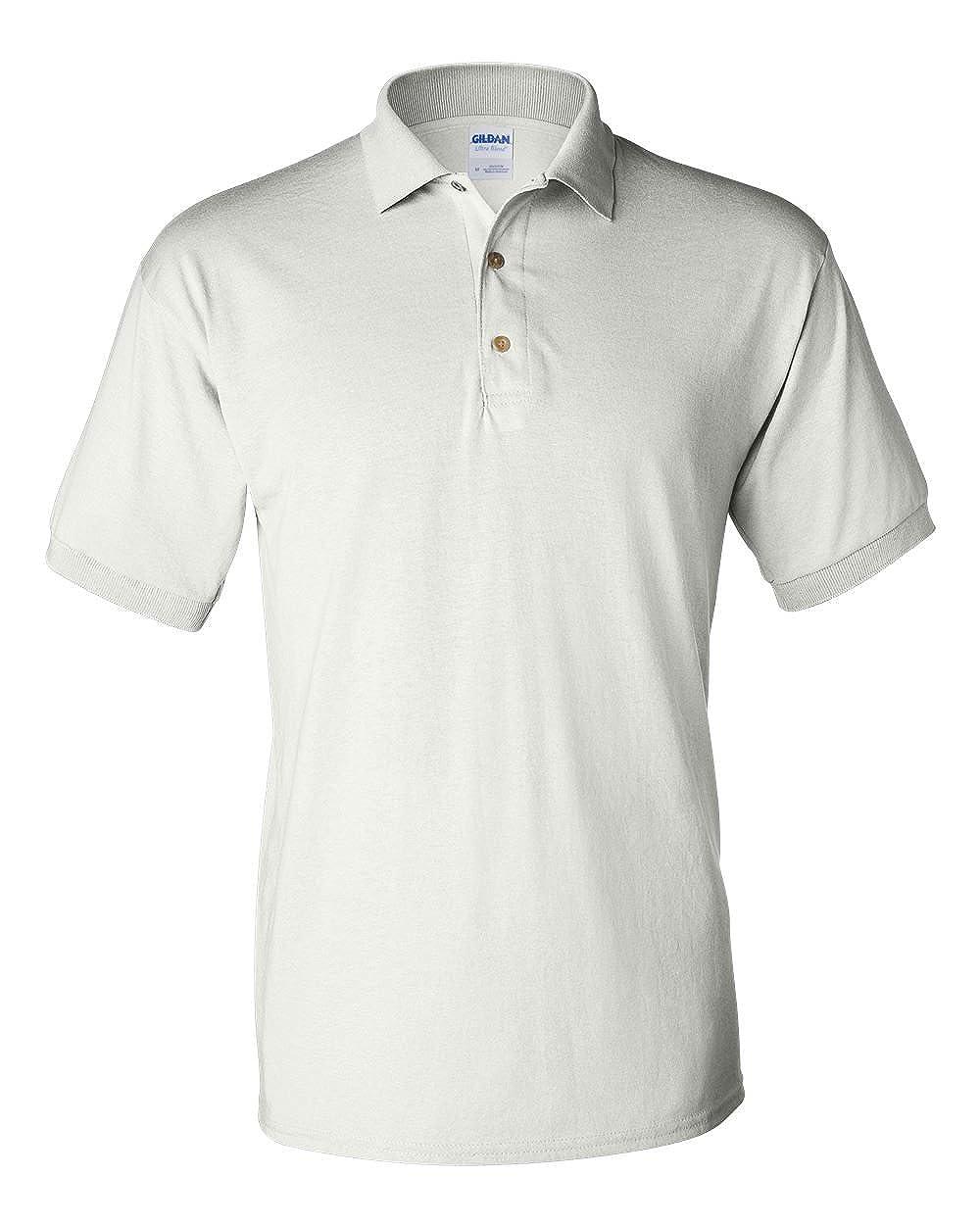 Pack of 12 Gildan 6 oz 5XL White G880 50//50 Jersey Polo