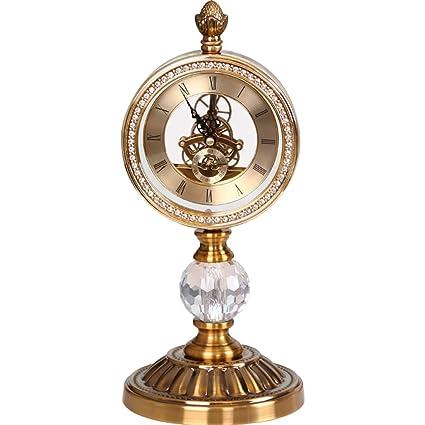 Relojes de mesa para la Sala de Estar Decoración Habitaciones Baño Engranajes Reloj de Escritorio Vintage