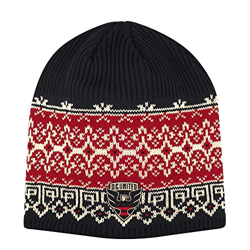 (adidas Adult Women Fair Isle Beanie, Black/Red, One Size )