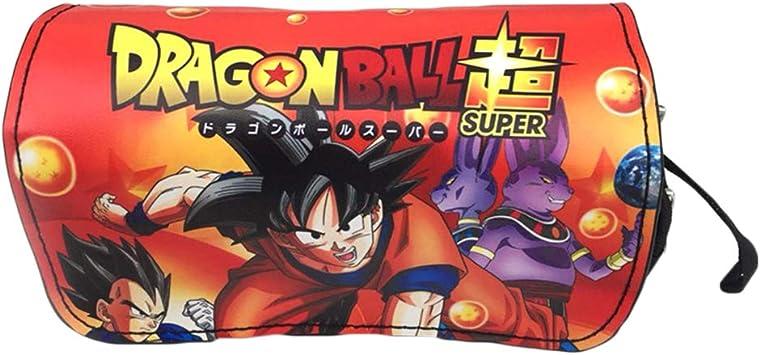 Dragon Ball Estuche de Lápices Anime Estuche de lápices Bolsa de lápiz de Doble Capa Dibujos