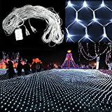 String Lights, Ecandy 2M x 3M 200 LED Linkable Design Net Mesh Fairy String Light Ideal for Indoor Outdoor Home Garden Christmas Party Wedding,White