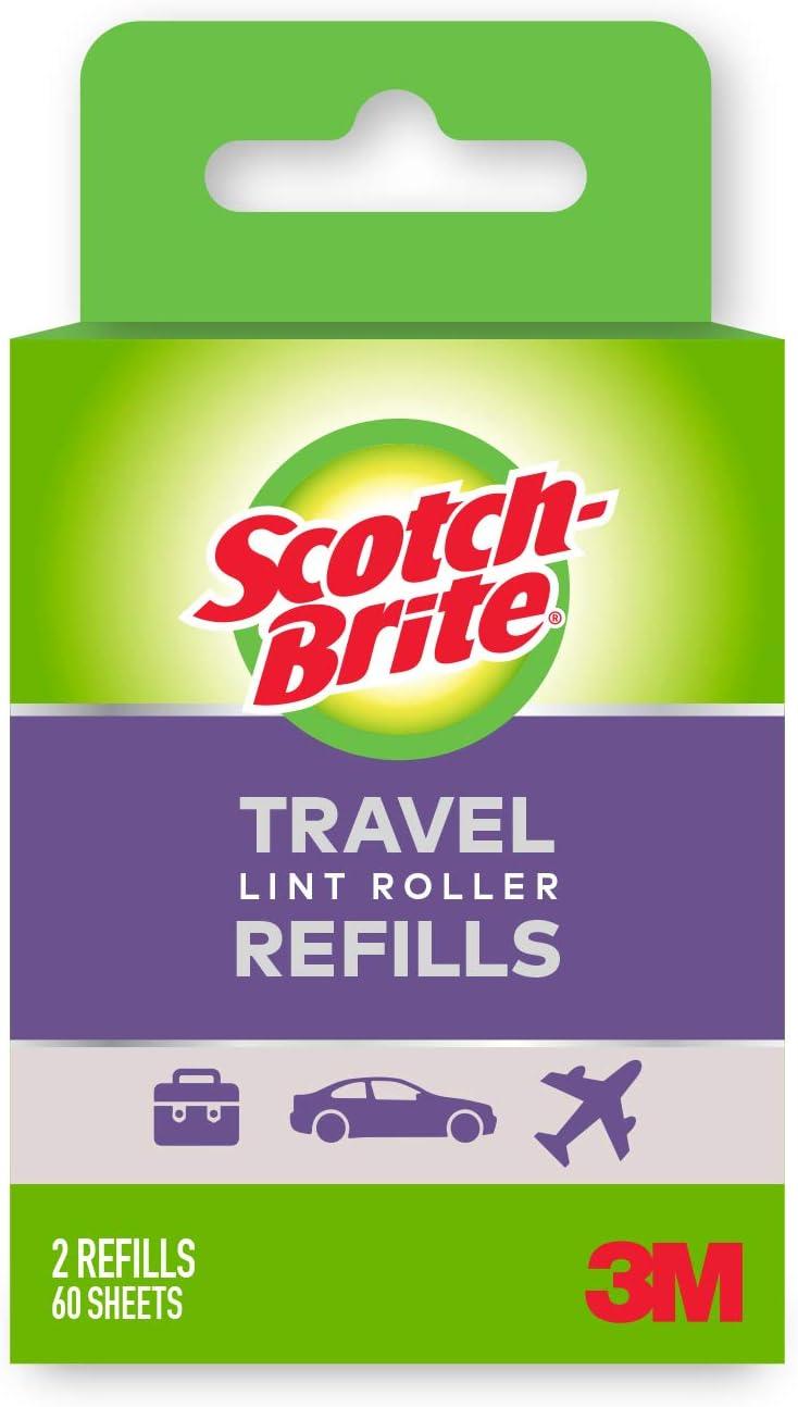 Scotch-Brite Mini-Travel Roller Refills, 16 Refills