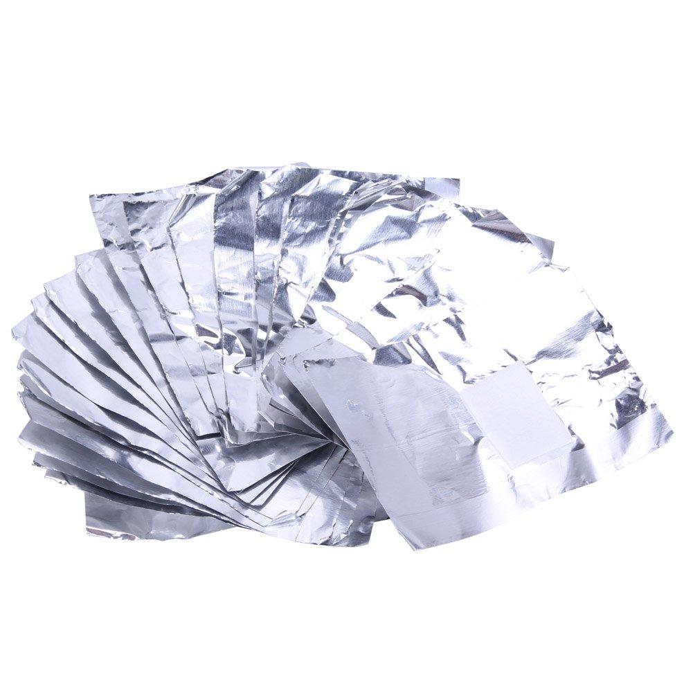 UEB 100pcs Salviette per Unghie Gel Foglio di Alluminio con Salvietta per Rimozione Smalto Gel Levasmalto Unghie Strumento per Unghie