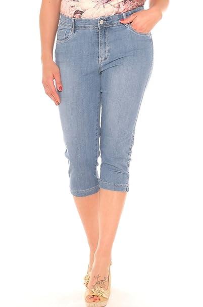 1868343a995a00 Emanuela Costa Pinocchietto Skinny Donna in Denim Misto Cotone Taglia  Morbida: Amazon.it: Abbigliamento