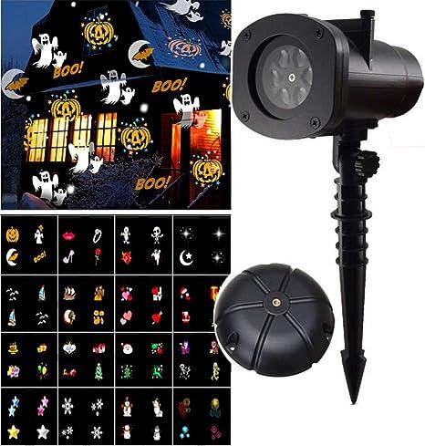Mobestech Navidad Halloween proyector luz Impermeable 16 Motivos ...
