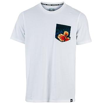 58dc2878bacb adidas Men's Swt Lf Pocket T T-Shirt, White/Blanco/Multco, X-Large ...