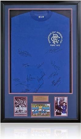 BSM Rangers FC 1972 ECWC - Camiseta con luz LED firmada a mano por 12 ganadores AFTAL Photo COA: Amazon.es: Deportes y aire libre