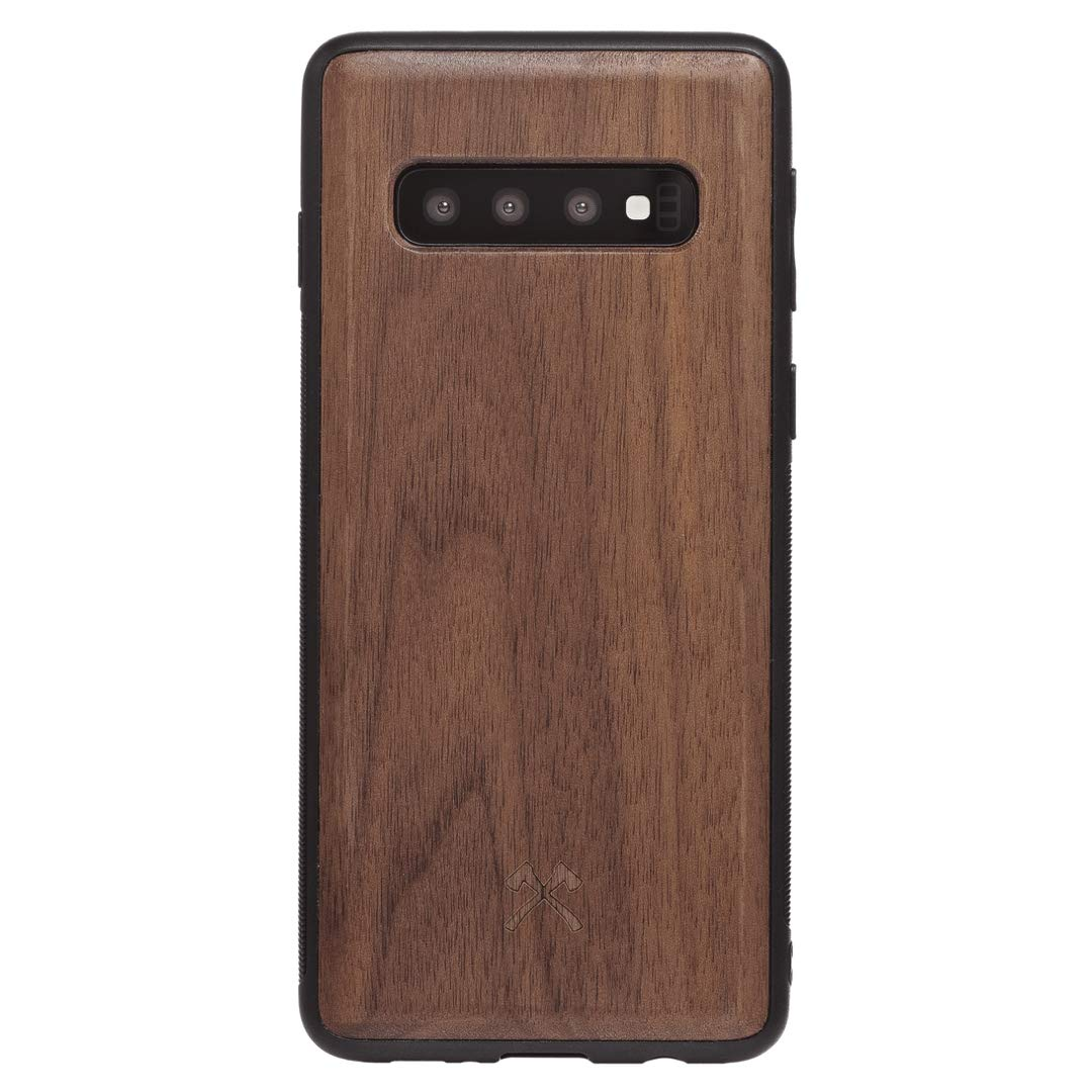 Woodcessories Case Compatible with Samsung Galaxy S10 Made of Real Wood EcoBump Walnut