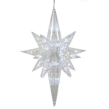 Amazon vickerman 19 pure white led lighted 3d star of vickerman 19quot pure white led lighted 3d star of bethlhem hanging christmas decoration aloadofball Images