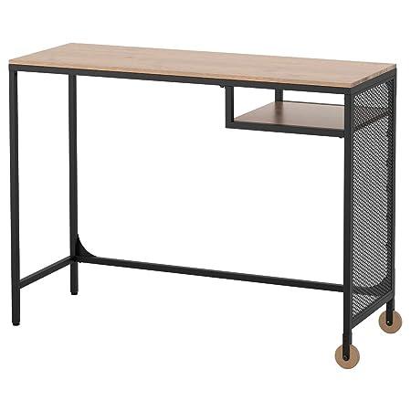 Tavolo Con Ruote Ikea.Ikea Asia Fjallbo Di Tavolo Nero Amazon It Casa E Cucina