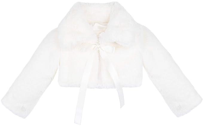 Lilax Girls Cozy Faux Fur Bolero Jacket Shrug