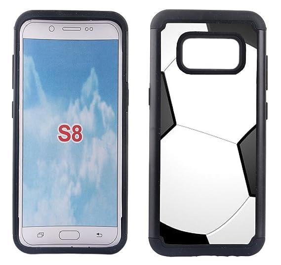low priced d5a92 92b3e Amazon.com: Corpcase - Hybrid Case for Galaxy S8 - Soccer / Unique ...