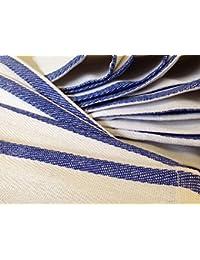 Win 1 Dozen 100% Cotton Blue Stripe Herringbone Kitchen Dish Towels Lint Free compare
