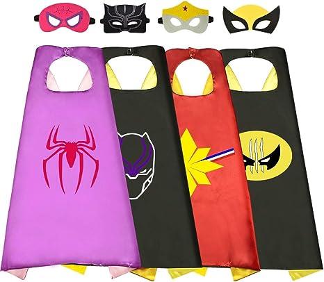 Easony Capa Disfraces, Capas Superheroes Niñas Juguetes Niñas 3-12 ...
