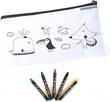 aeioubaby.com 25 Estuches con 5 Pinturas de Ceras para Colorear, Ideal Regalo Fiesta Cumpleaños, Colegios, Guarderías. Regalo Original: Amazon.es: Juguetes y juegos