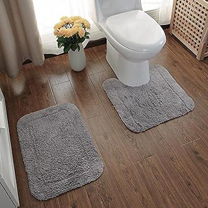 MNII Alfombra de algodón baño de dos piezas Set U tipo colchones de baño Colchones
