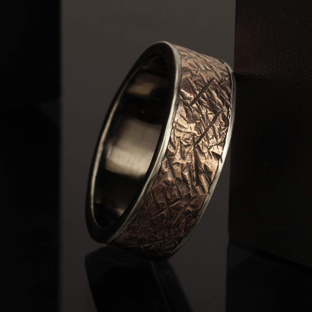 Amazon Com Copper Wedding Band Male Wedding Rings Unique