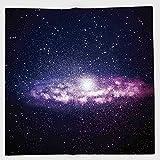 Cotton Microfiber Hand Towel,Galaxy,Nebula Cloud in Milky Way Infinity in Interstellar Solar System Design Print,Purple Dark Blue,for Kids, Teens, and Adults,One Side Printing