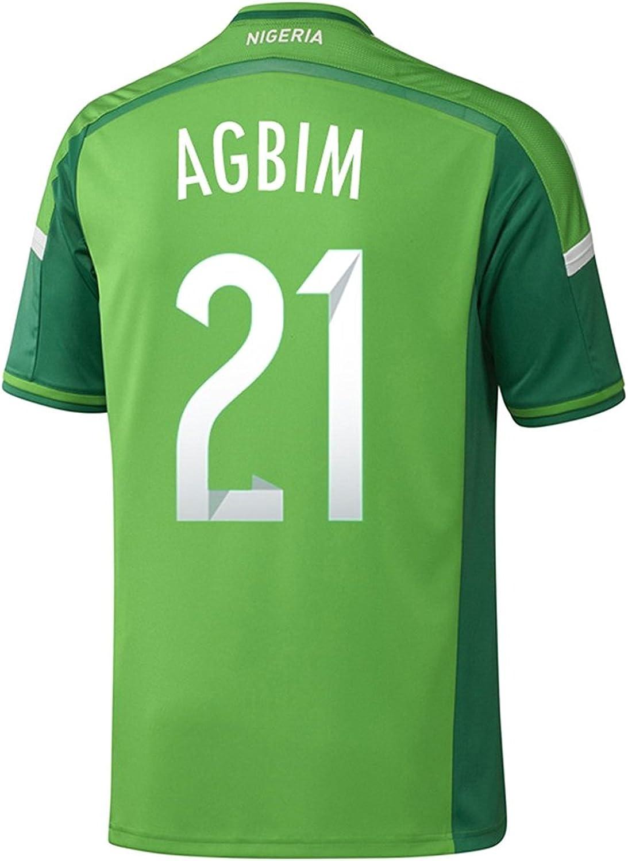 adidas AGBIM #21 Nigeria Home Jersey World Cup 2014
