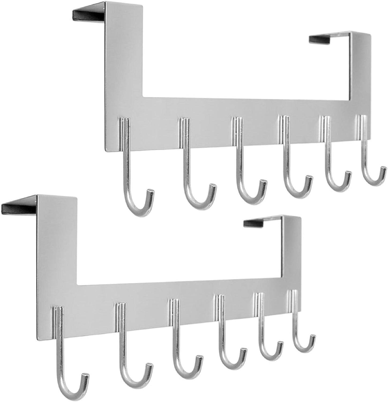 Fdit Perchero de Aluminio en Forma de U Montado en la Pared 5 Ganchos Perchero para Abrigo Abrigo Toalla Sombrero Entrada de ba/ño