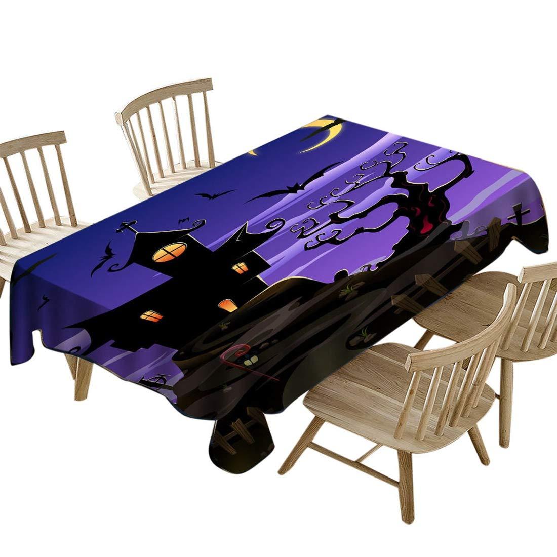 YUENA CARE Nappe pour Table Nappe Rectangulaire Imperm/éable Parfait pour Halloween Mod/èle A #1 137 137cm