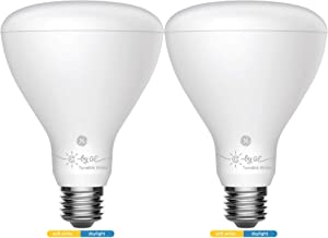 GE Lighting 93096422 C by GE Smart BR30 Tunable White, 2-Pack, Works with Alexa and Google Assistant, WiFi Enabled Connected LED Bulb