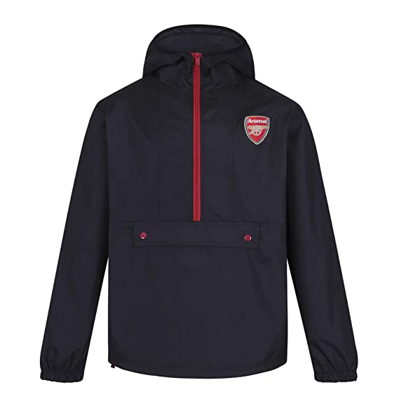 sports shoes fde1a 88c2f Arsenal FC Official Football Gift Mens Shower Jacket Windbreaker