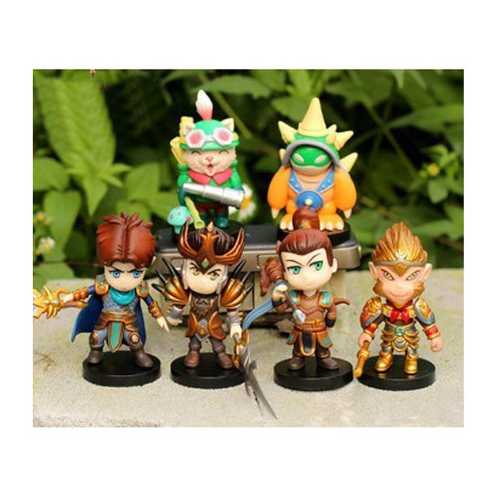 HNBY Set Spielzeug Spielzeug Statue League of Legends Spielzeug Modell Exquisite Ornament Dekoration   8 Cm-13 cm Ornamente Andenken Statue