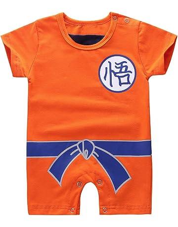 d84b4b861ef6e Alvivi Enfants Bébé Garçon Barboteuse Cosplay DBZ Pyjama Combinaison  Costume Dragon Ball Halloween Déguisement Son Goku