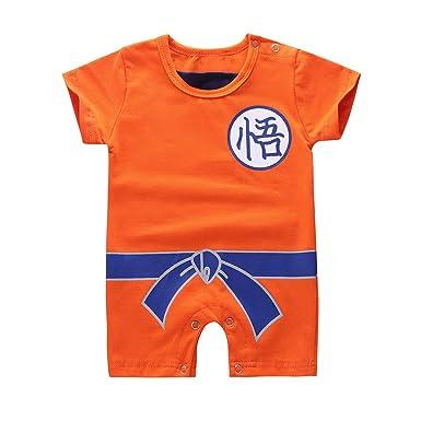 ranrann Disfraz Goku para Bebé Niños, Body Pijama de Algodón ...