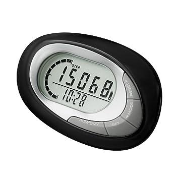 Lixada 3D Digital Sensor Podómetro Pantalla LCD Paso Contador Portátil Pasos de Pista para Caminar Fitness