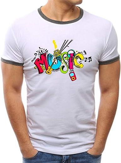 Fannyfuny camiseta Hombre Verano Casuales Camisetas de Manga Corta Deporte Tank Top Original Camisa Impresión de Estilo Grafiti Blusas Suave Básica Slim Fit Chándal T-Shirt: Amazon.es: Ropa y accesorios