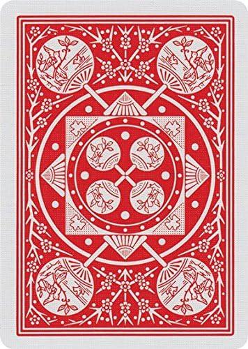 Caja de barajas TALLY-HO Fan (12 Rojo): Amazon.es: Juguetes y juegos