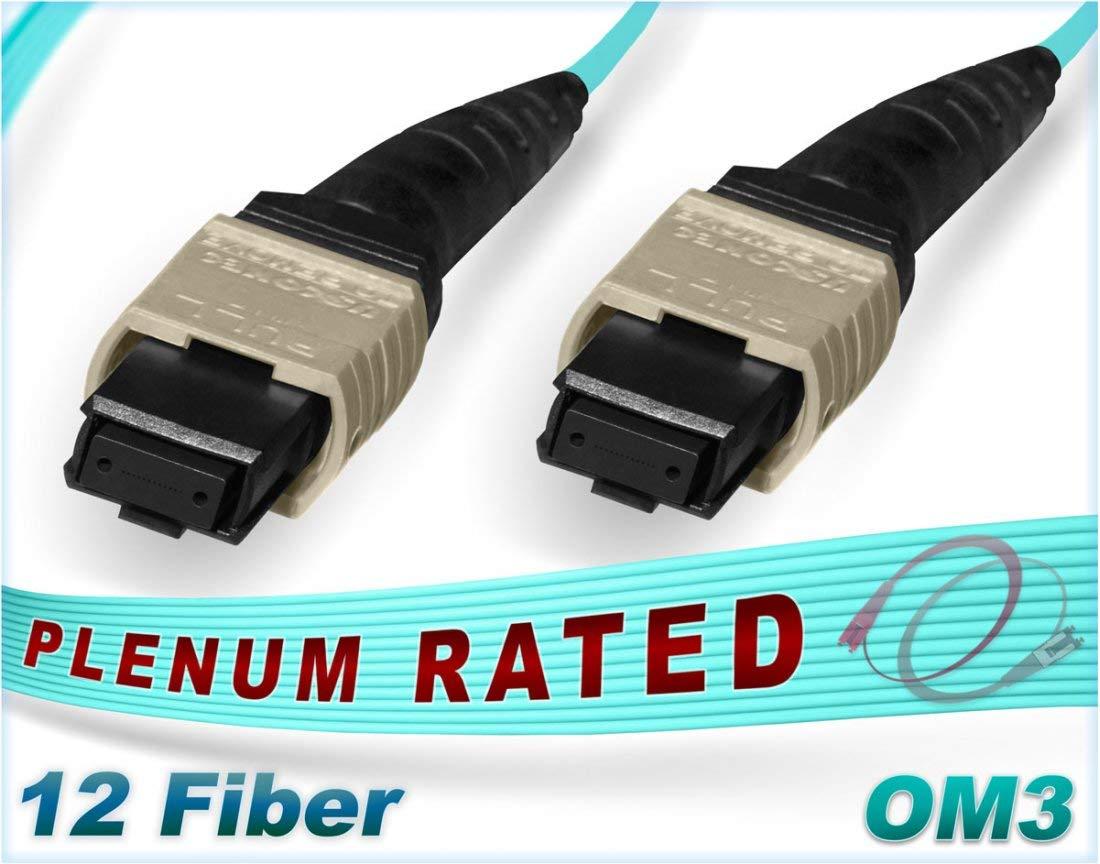 om3 MTP/MPO to MPO/MTP 12ストランドmulti-fiberパッチケーブル10 g, 250 Meter B07F736QQC  250 Meter