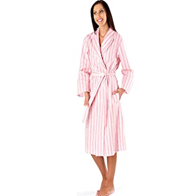 Womens Ladies Summer Long Dressing Gown Robe Cotton Soft Candy ...