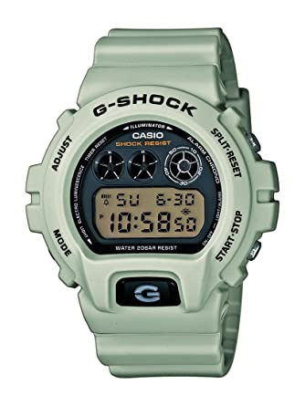 75fbac5d4c54 CASIO G-SHOCK Men s Quartz Watch with Black Dial Digital Display and Beige  Resin Strap