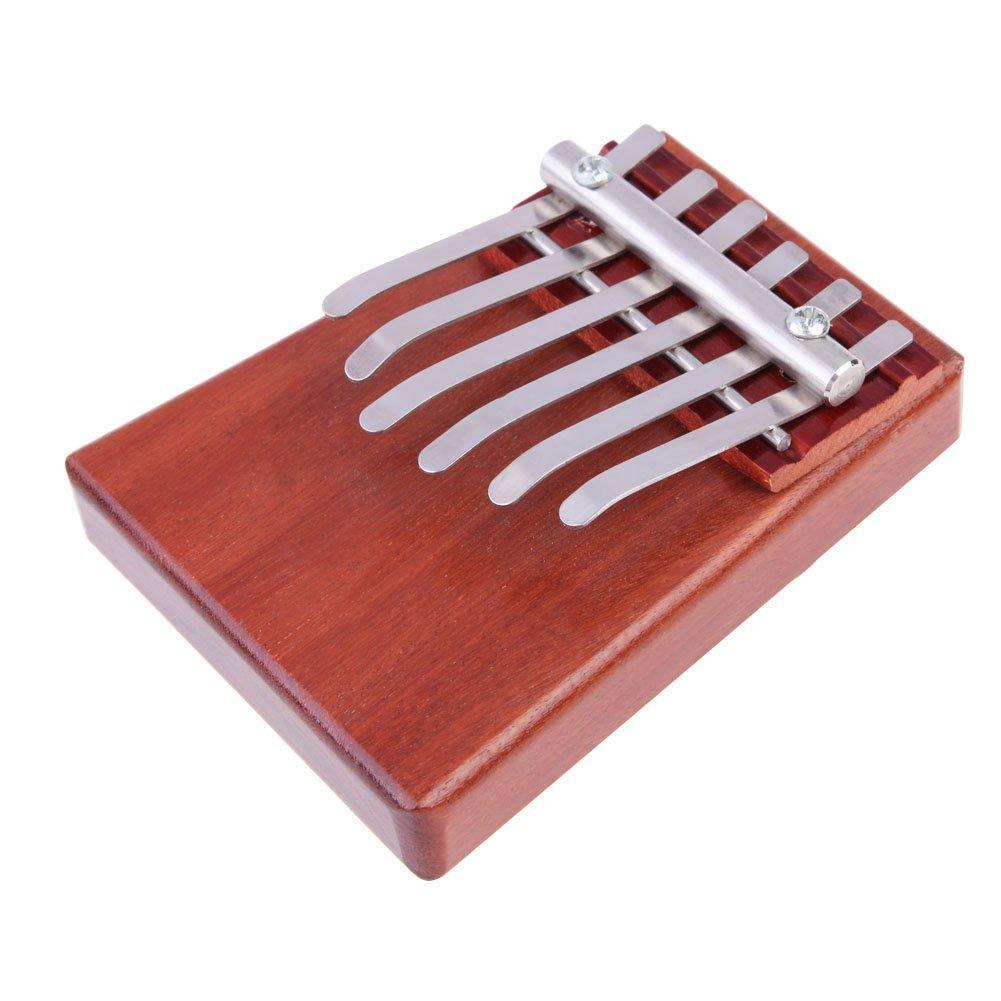6 Key Kalimba Mbira Likembe Sanza Finger Thumb Piano Rosewood Instrument YingYing Supplies YY201605MU