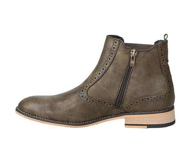 Cavani - Botines Chelsea de Cuero Hombre: Amazon.es: Zapatos y complementos