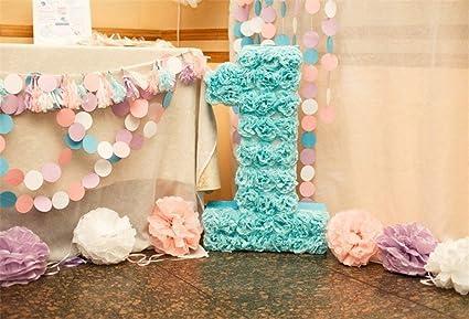 GzHQ 10x7ft Niña Primer cumpleaños Fondo Pequeña Princesa ...