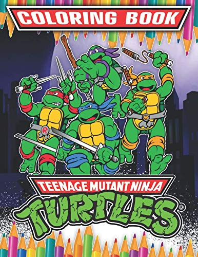 Teenage Mutant Ninja Turtles Coloring Book: 35 Exclusive Illustrations